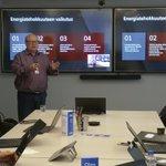 Image for the Tweet beginning: Tänään taas opiskellaan @PohjolanVoima'ssa. #e2clinic