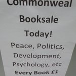 Image for the Tweet beginning: Some pictures from yesterday's booksale.