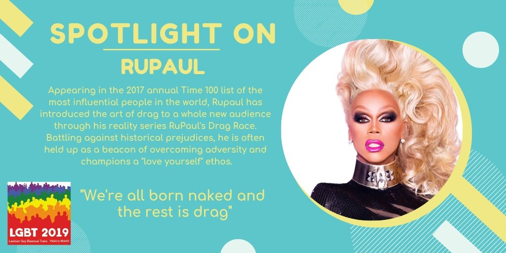 """Today's #SpotlightOn  is the supermodel of the World! RuPaul's book """"Workin' It"""" will be highlighted later today.  #LGBTHistoryMonth #LoveLibraries  http://socsi.in/nYStZ  Photo Credit: Google Images / Mathu Andersen"""