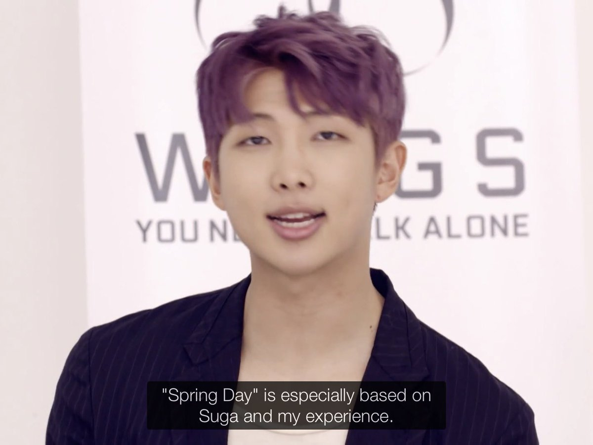 Namjoon and Yoongi wrote 'Spring Day' to commemorate the Sewol Ferry incident.  The lyrics are beautiful and the choreography compliments the song so well. We're lucky to be blessed by such incredible talent as theirs!  ~ L  #TimelessSpringDay #겨울지나_다시봄날 @BTS_twt <br>http://pic.twitter.com/xpPbsyuRJk