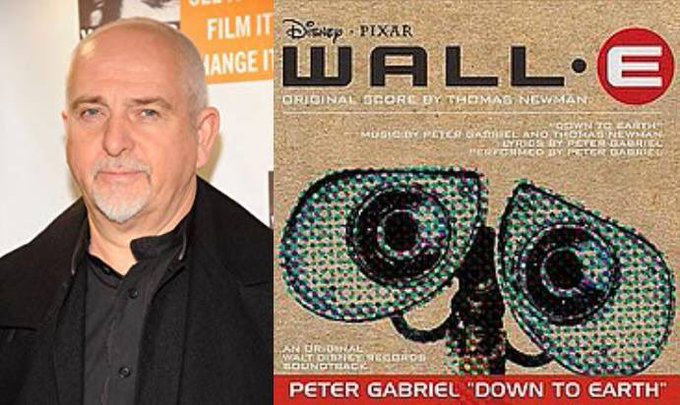 Happy 69th Birthday to Peter Gabriel! The singer who performed Down to Earth from WALL-E.