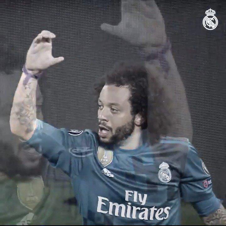 🇧🇷💫 ¡@MarceloM12 ha marcado en las últimas tres eliminatorias de la Champions! #RMUCL