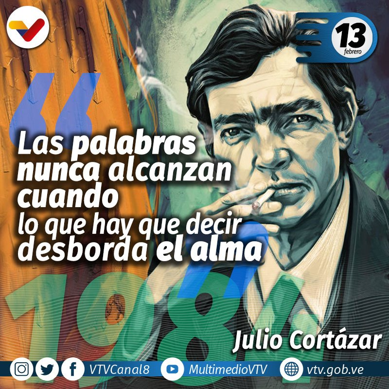 VTV CANAL 8's photo on Julio Cortázar