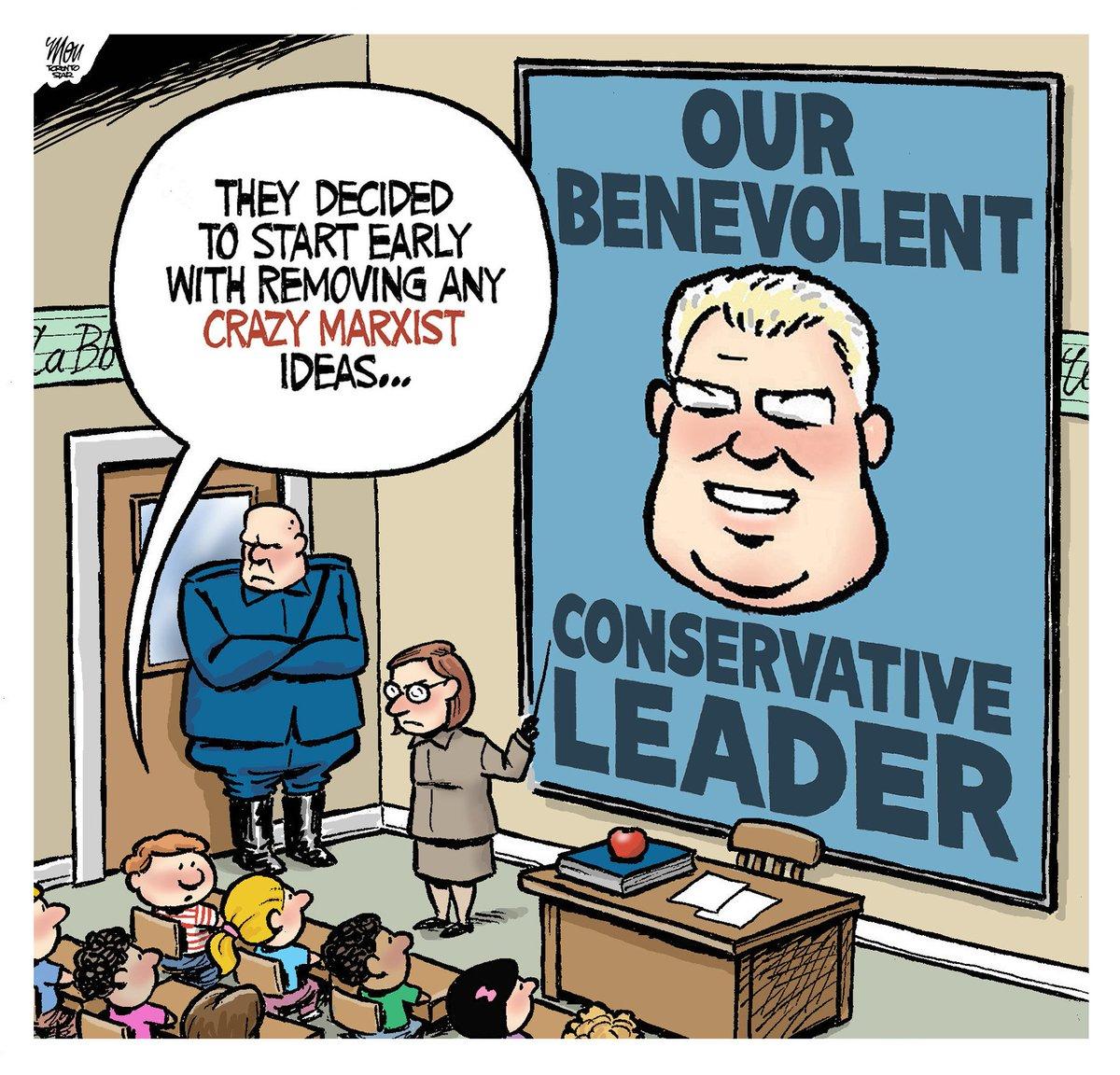 Here's today's #DougFord cartoon in @TorontoStar #onpoli