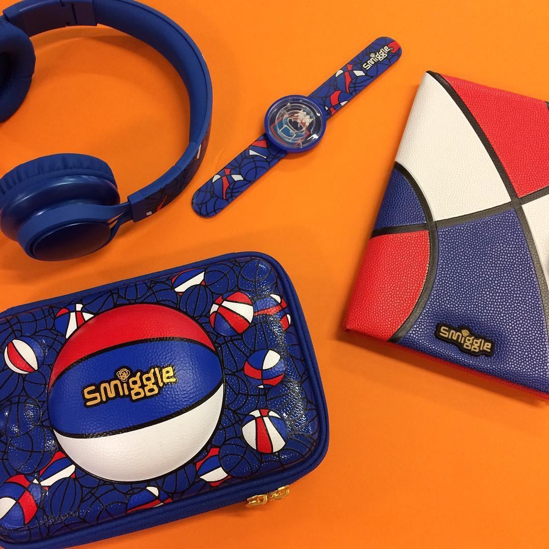 Smiggle's latest Bball collection is sure to be a slam dunk! Filled with cool basketball prints and perfect for adventures or school! Visit your smiggle store today to shop