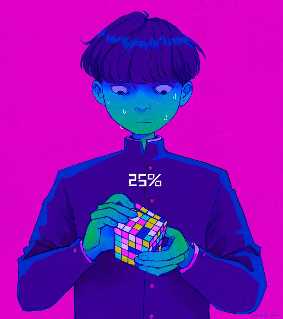 Psychic powers—the only way to complete a Rubik's Cube https://t.co/twklcLqHBS (by @vah_arina) #MobPsycho100 https://t.co/KHQlagCqOZ