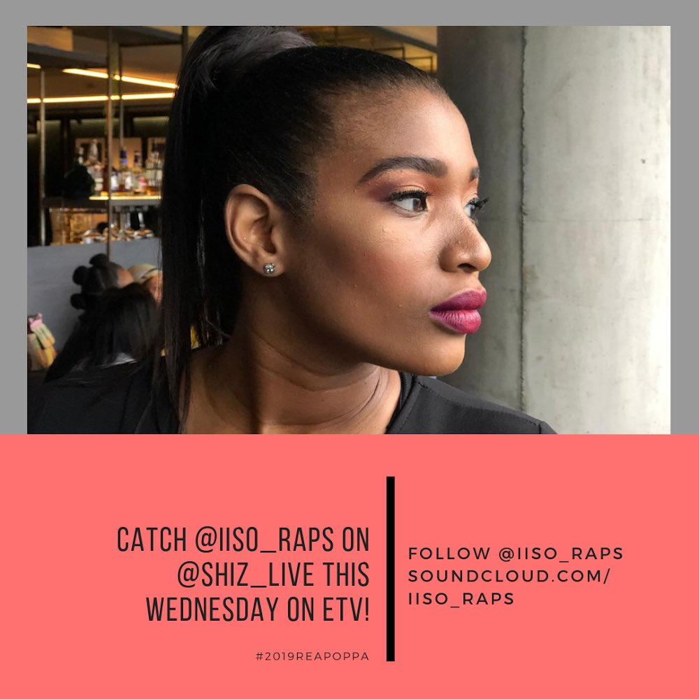 Today we hang out with the gorgeous @iiso_raps on #ShizLive Make sure you tune in at 3:55pm only on @etv 🙌🏽🙌🏽🙌🏽🙌🏽🙌🏽   #ShizLive #LoveAtFirstListen 💕🔊