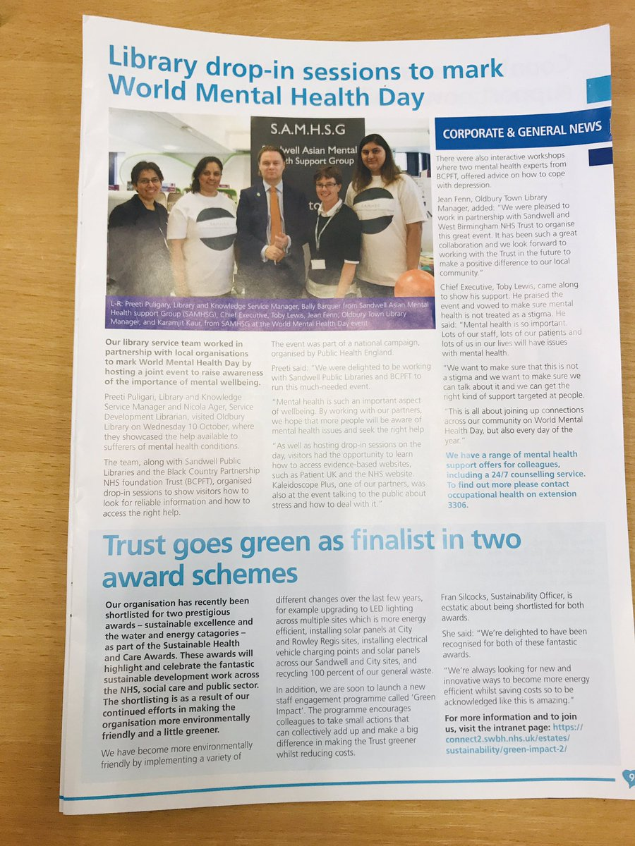 Hello everyone! Hope all is well its @samhsg18 we are overwhelmed to see our picture in a Heartbeat magazine, this picture was taken on World Mental Health Day 10th October 2018. <br>http://pic.twitter.com/uOTAFgUMe8
