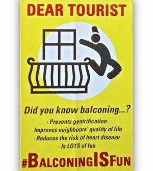 ¿Saben qué es el Balconing ? Es la practica que consiste en saltar entre balcones de un hotel o hacia la piscina. En muchas ciudades los residentes fomentan esta practica para demostrar al turista que no es bien recibido en el lugar.  #EcoTurismo #HoyAprendí @Betodiazcid