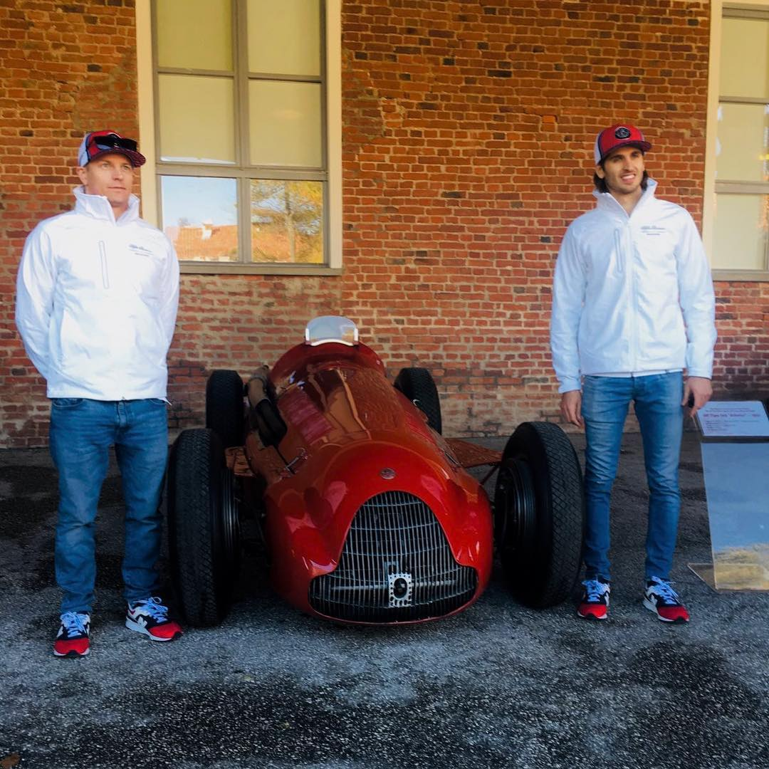 Kimi Raikkonen and Antonio Giovinazzi at Balocco - Alfa Romeo Racing