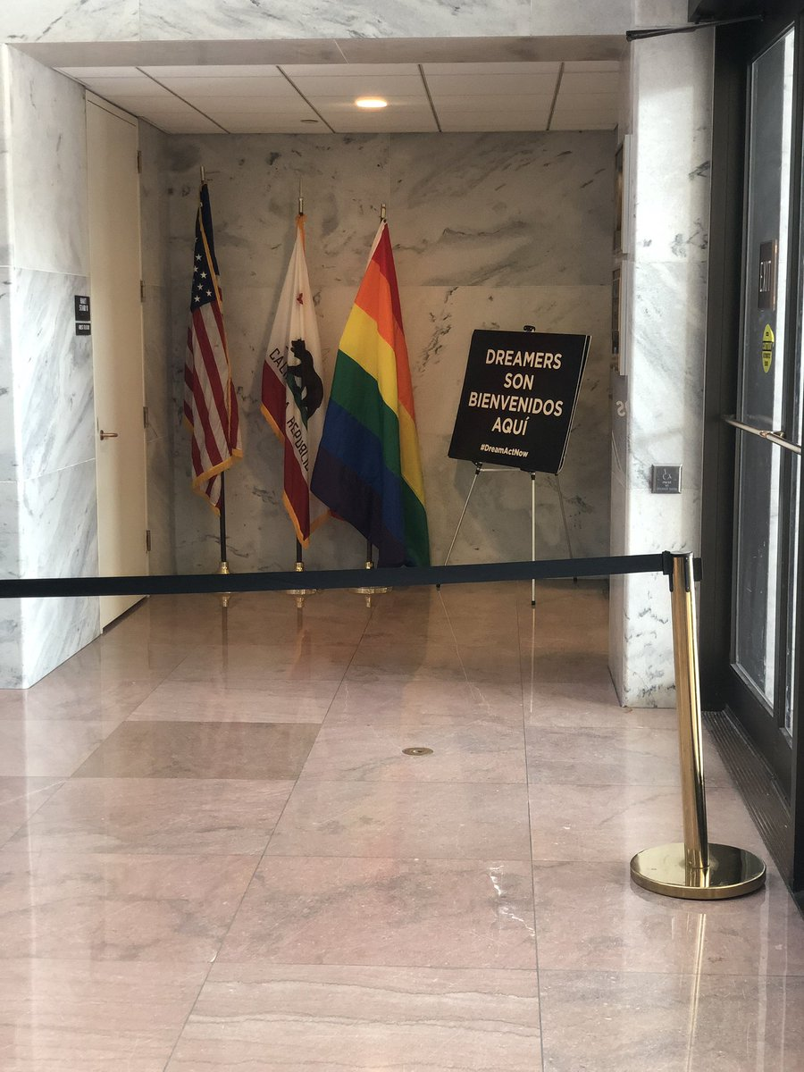 """Why the HECK is this the FIRST sign you see when you enter the US CAPITOL?!   """"Dreamers are welcome.""""   Wow. Americans literally come second."""