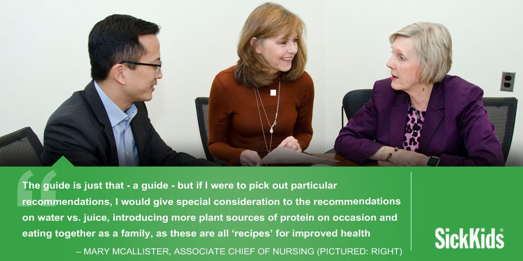 ICYMI: Three distinct SickKids perspectives on Canada's new #foodguide from a physician, a dietitian and a nurse: http://ow.ly/w1ds30nGVlI