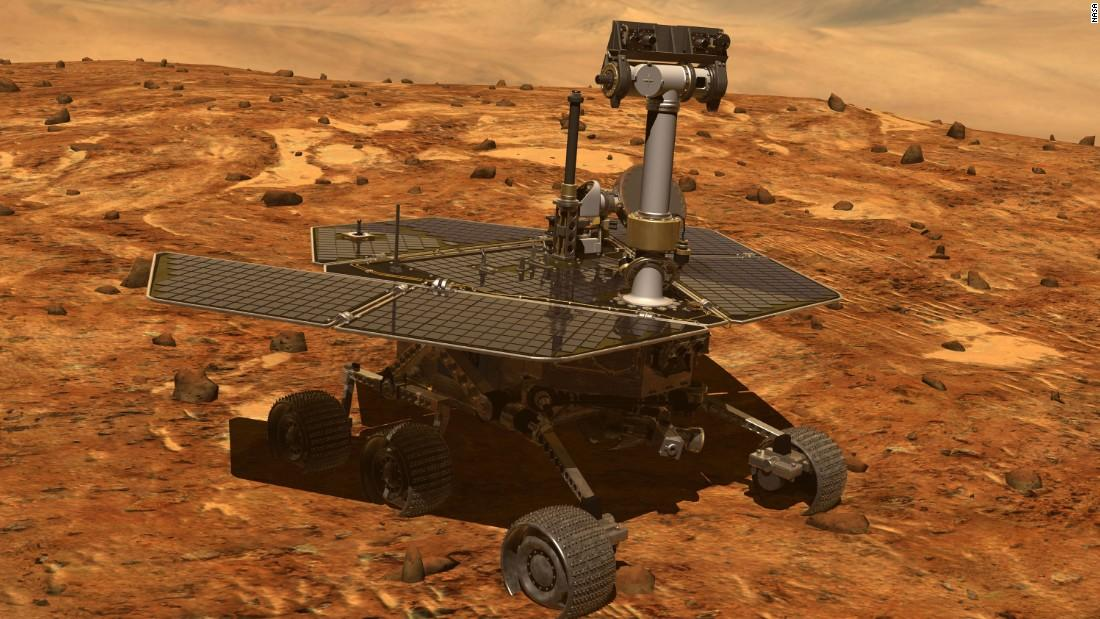 """It's time to say goodbye to the Opportunity rover. Its team made a last attempt Tuesday night to contact """"Oppy,"""" as the Mars rover is affectionately known, and it went unanswered. On Wednesday, NASA confirmed that the mission is over. https://cnn.it/2DES0hG"""