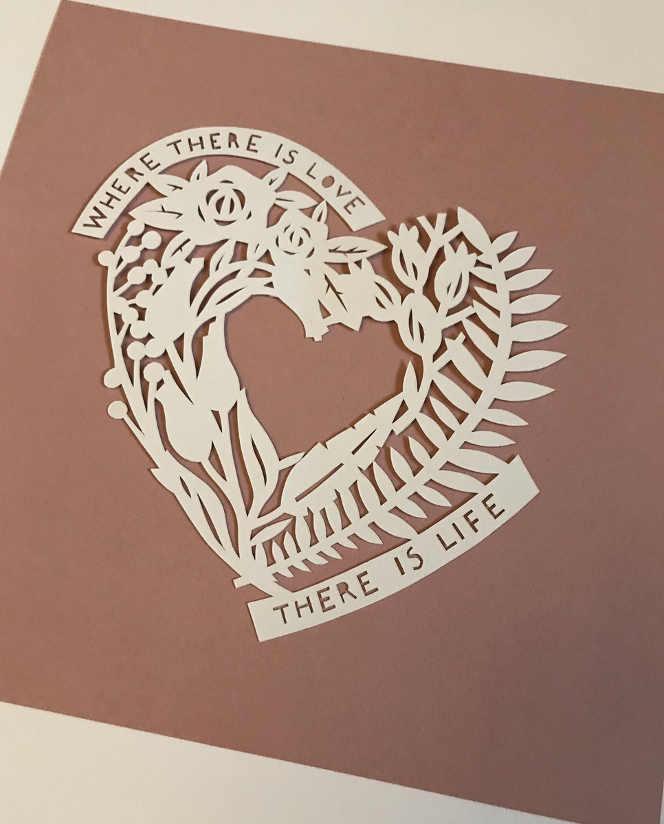 Evening everyone, on to see the lovely goodies and show some paper cuts ♥️ - here's my latest Valentines inspired piece (one of three) now in shop !! #handmadehour #paperart #paperartist #paper #papercut #papercraft #design #artists #ValentinesDay2019 #heart #love #quote