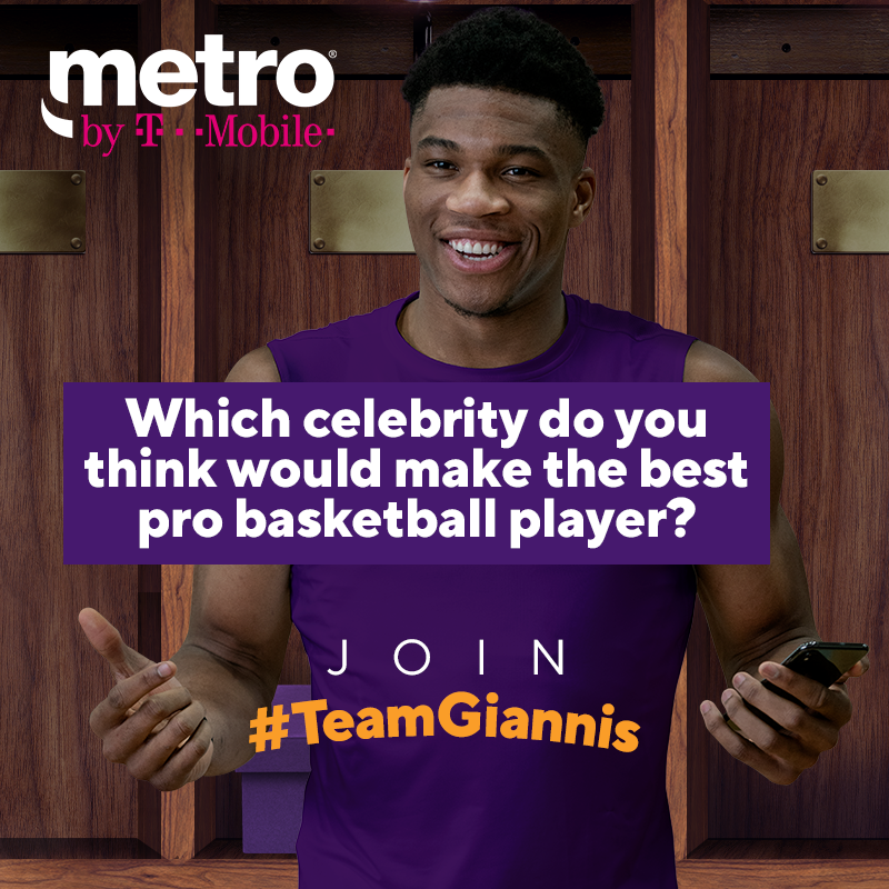 Which celebrity do you think would make the best pro basketball player? Comment below using #TeamGiannis for a chance to win your very own custom pair of sneakers in our prize pack!