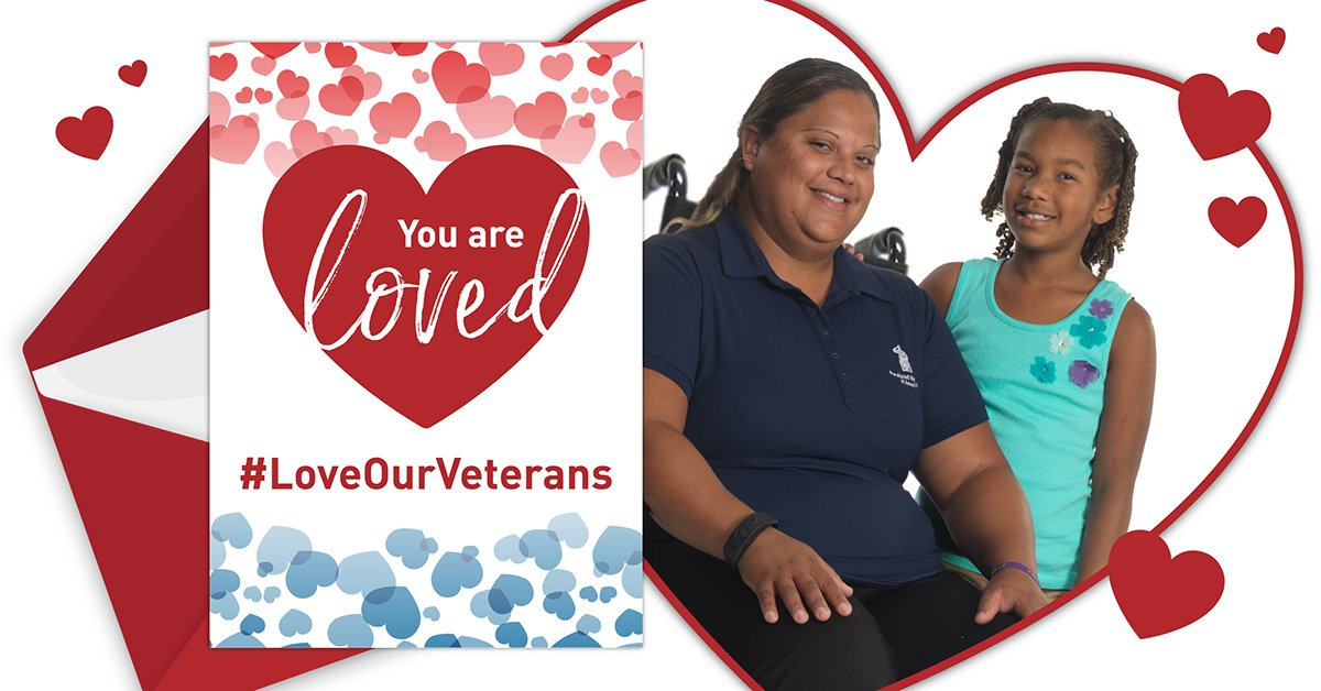 Give #veterans your love with a gift today! Send a Valentine to a veteran #LoveOurVeterans https://bit.ly/2US3Zj2