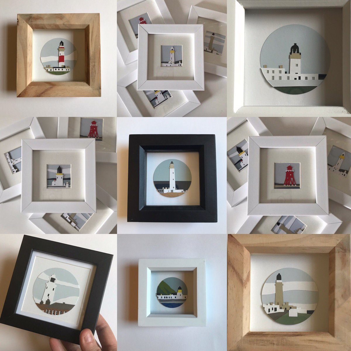 My Lighthouse ♥️ SALE is on until Monday if anyone loves a miniature!! #artist #design #handmadehour #paperart #papercraft #paperartist #papercut #landscape #architecture #etsy #etsyseller #miniatures #sale