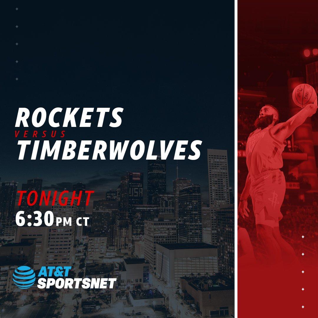 Final game before the #NBAAllStar break! The @HoustonRockets take on the Timberwolves tonight at 6:30pm! #Rockets #RunAsOne