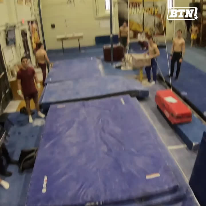 🎶 You spin my head right round, right round. 🎶  We strapped a GoPro to @GopherMGym while they were on the high bar & the dismount looks sick.   Full disclosure: you may also get sick watching this video. 🤢