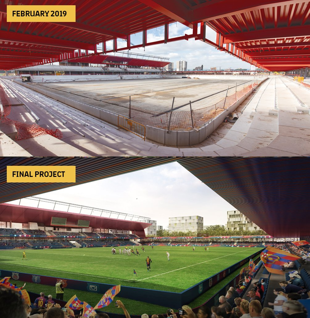 🔜 Not long to go now before the Johan Cruyff Stadium is a reality... 😍