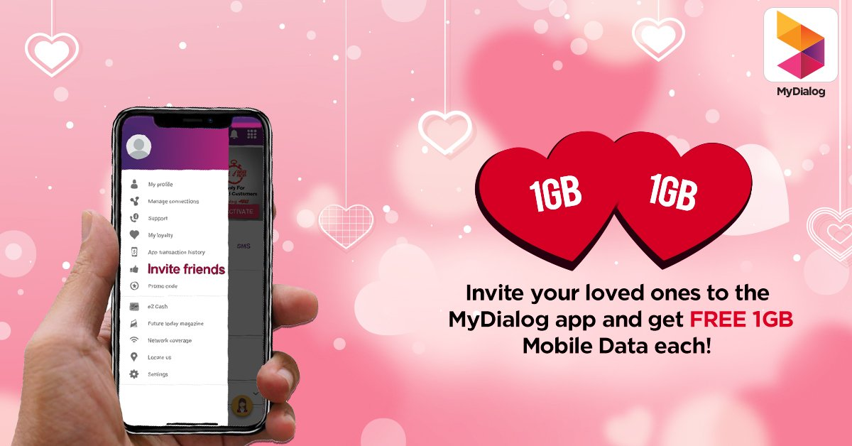 Get FREE 1GB mobile data for you &