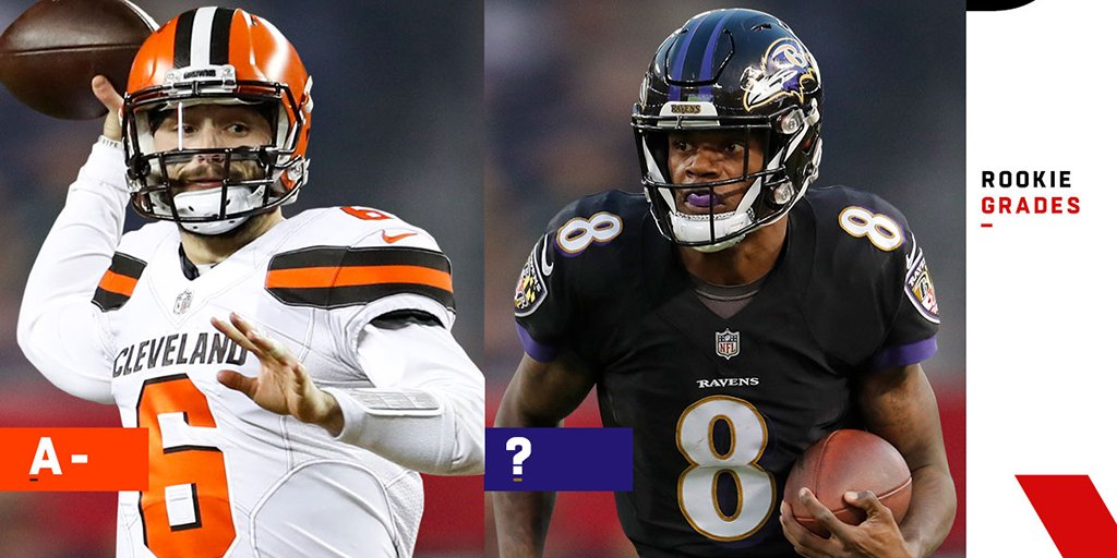 Baker Mayfield led a crop of foundation-laying newbies in Cleveland, while Lamar Jackson sparked a playoff run in Baltimore. @TheNickShook grades AFC North rookies  http://www.nfl.com/news/story/0ap3000001017724/article/afc-north-rookie-grades-browns-ravens-land-core-performers?campaign=Twitter_atn…