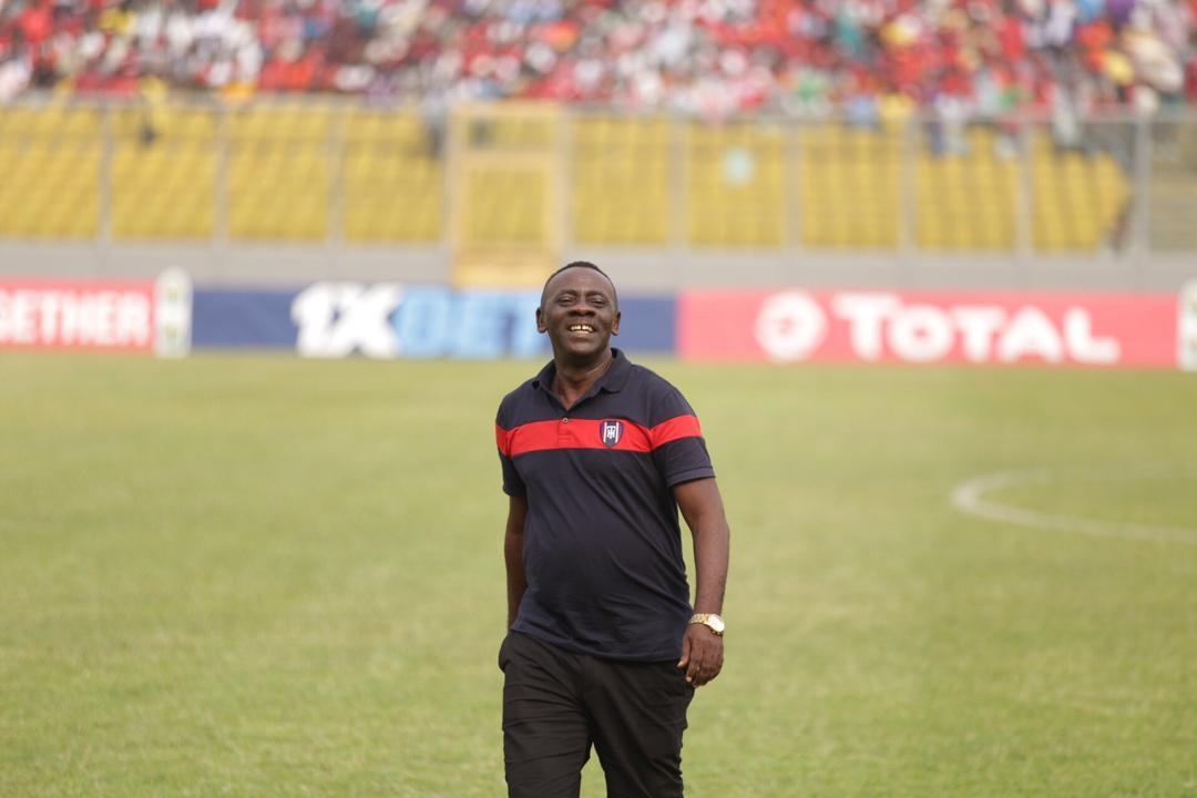 Akrobeto is in the house to lend his support to Kotoko in their group B CAF Confederation Cup  #TotalCAFCC