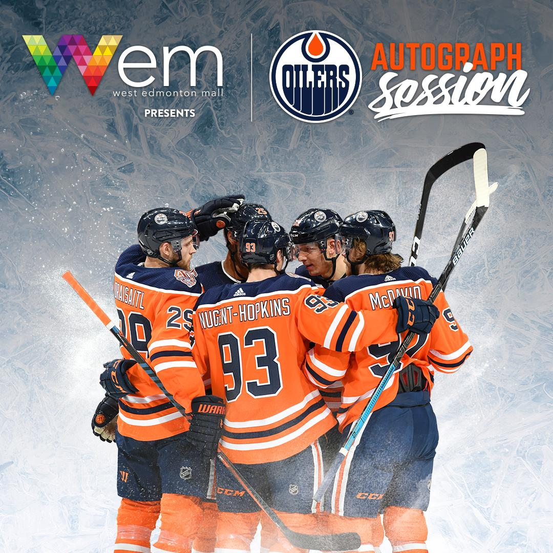 WIN a front-of-the-line pass to get an autograph from ANY #Oilers player at the @edmontonoilers  Autograph Session presented by West Edmonton Mall on February 18.  To enter: 1. Follow @official_wem. 2. RT this post. Giveaway ends Feb 15 at 5 p.m. #LetsGoOilers #yeg