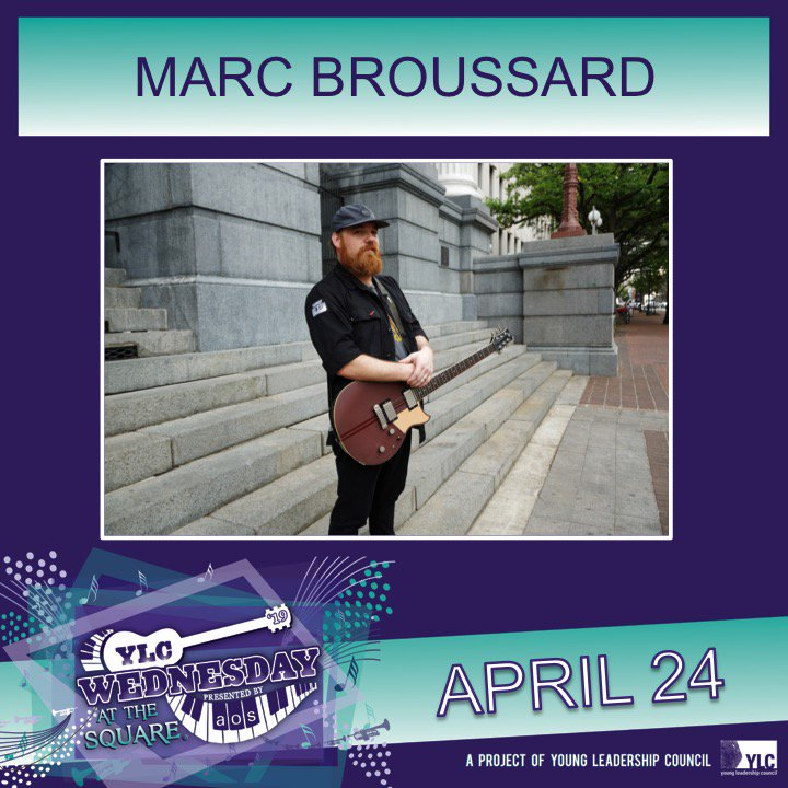 FREE event in Lafayette Square on 4/24 for the @ylcnola & @YLCWATS  Visit http://www.marcbroussard.com for more dates!