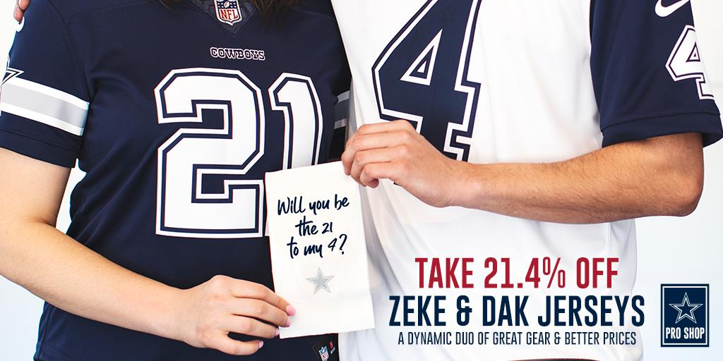 You've got until the end of tomorrow to score 21.4% OFF all #CowboysNation Zeke & Dak jerseys!  SHOP NOW: http://dcps.co/jerseys71c86
