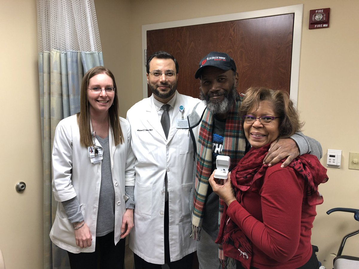With the amazing Cathy Crump, my oncologist Dr.Mohammed Salem and Candace Bashaw. Great news today. They said I can go back to work part time in a few weeks. Thanks everyone for the prayers and positive thoughts. Please keep them coming. God is good and I plan to lose the beard.