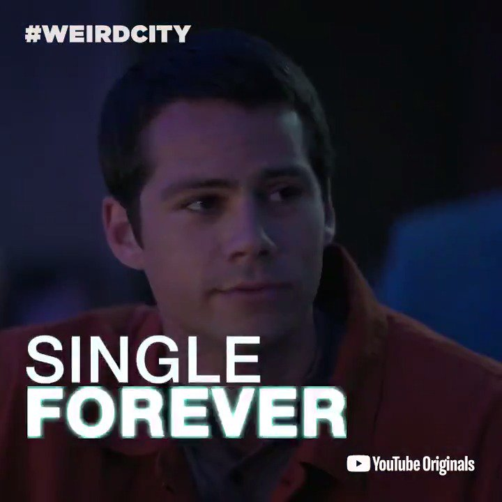 Dating is weird. Valentine's Day is weird. And @dylanobrien thinking he will be single forever is VERY weird.   Watch @JordanPeele and Charlie Sander's #WeirdCity now. → https://goo.gl/ih1Rh9