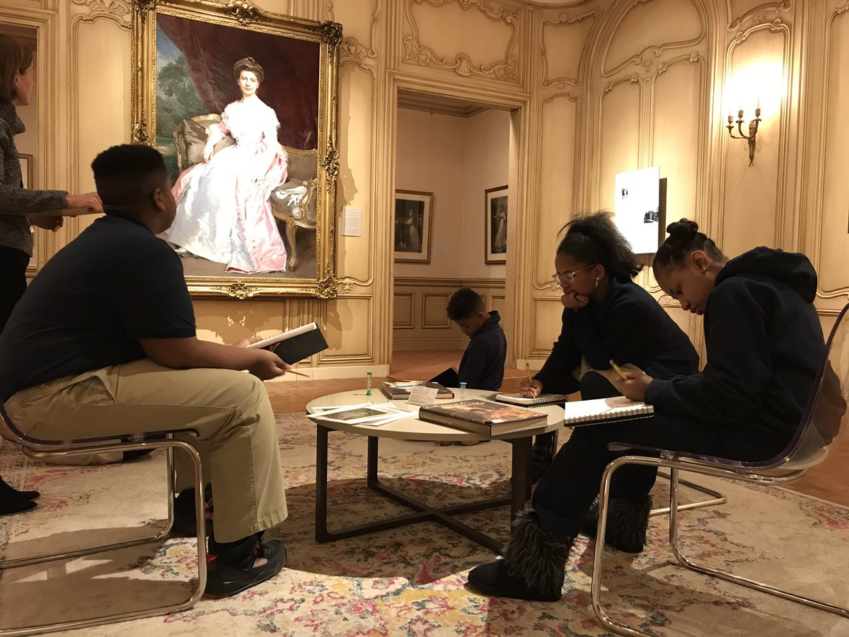 Propel Mckeesport 6th graders examine details of portraits in the permanent collection at the Fick Pittsburgh @TheFrickPgh         @propelschools @AgencybyDesign <br>http://pic.twitter.com/xvlqTrT4yN