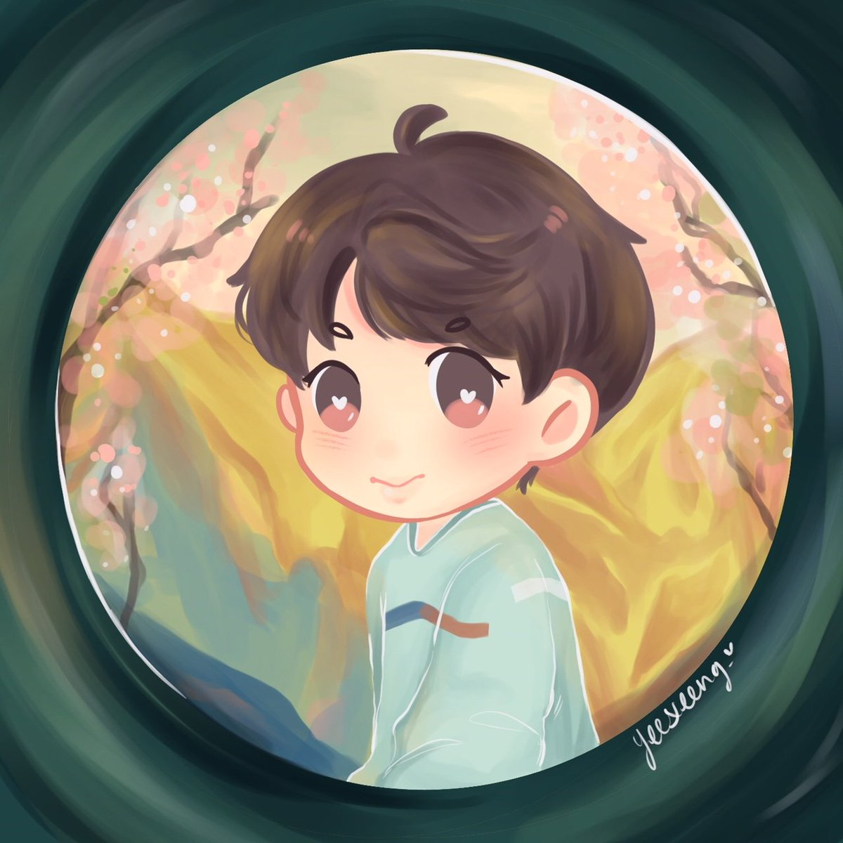 Pass the end of this cold winter, until the spring day comes again   #TimelessSpringDay #btsfanart #봄날 #JIN<br>http://pic.twitter.com/oup6UjaGEZ