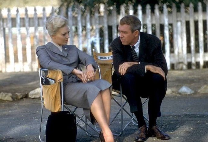 Happy birthday to Kim Novak! Seen here on the set of VERTIGO (1958).