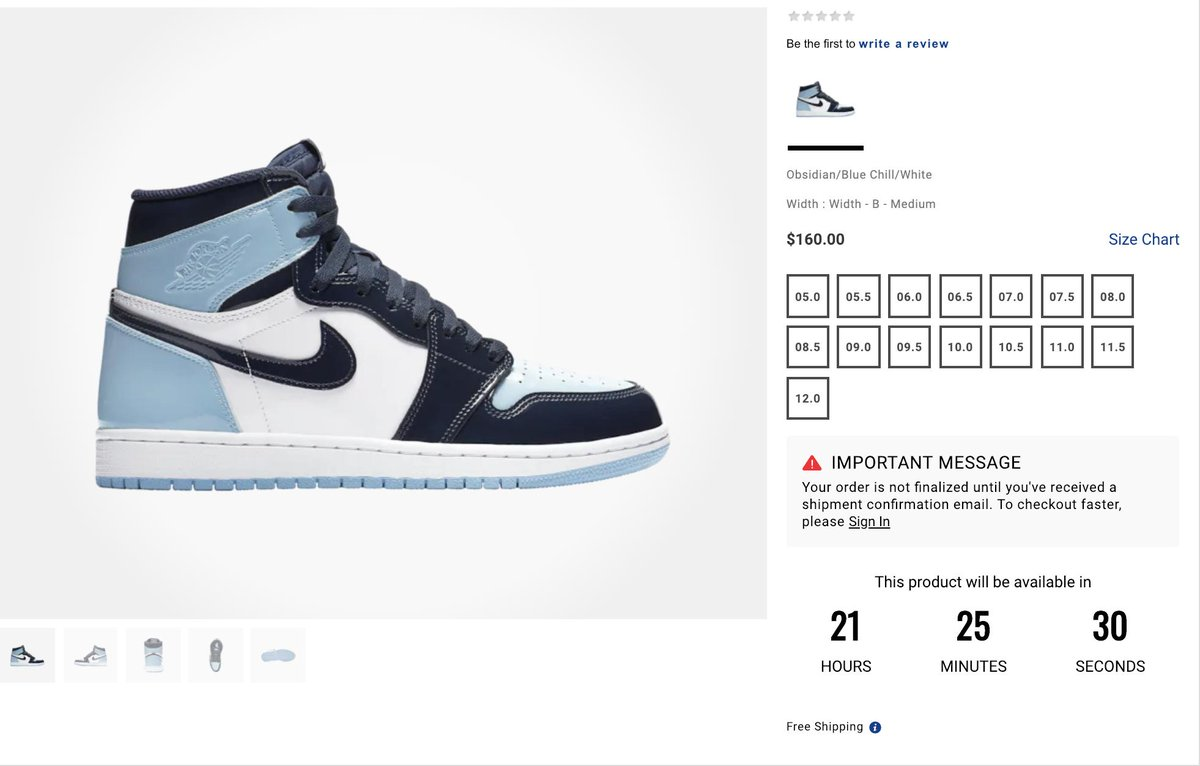Ad  COUNTDOWN via Footsites Women s Air Jordan 1 Retro High OG  Blue Chill   Champs http   bit.ly 2Dy4Tds Footaction http   bit.ly 2Gn0huB Foot ... a389c911d9