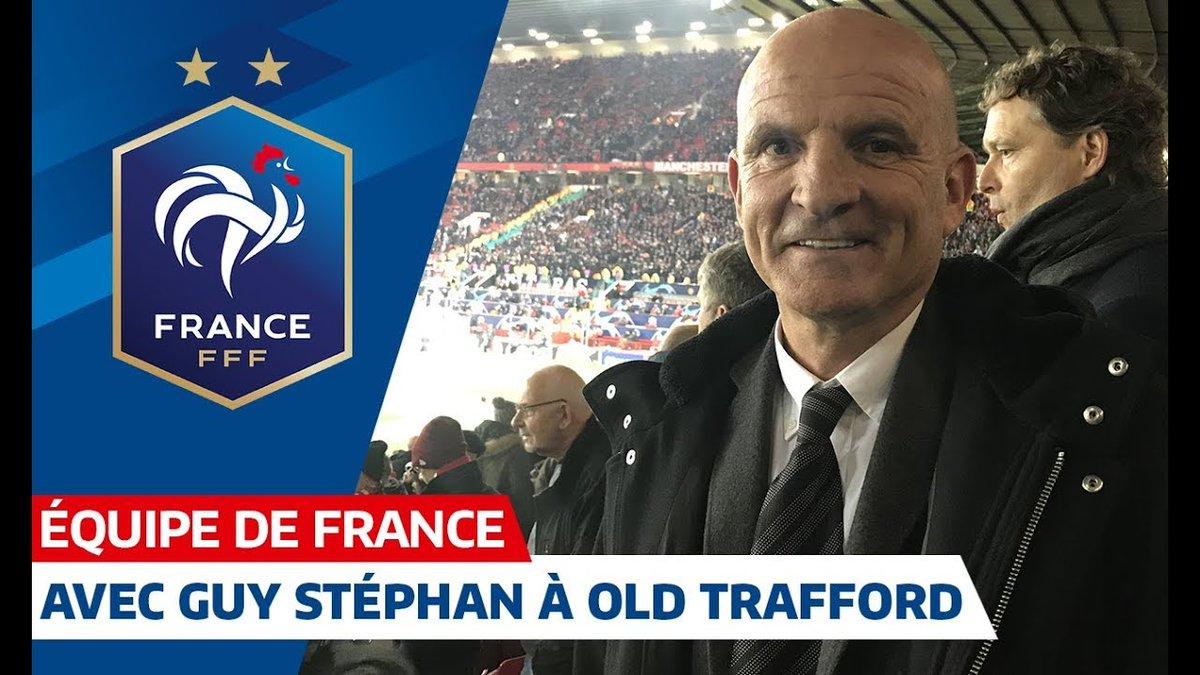 Guy Stéphan s'est rendu hier à Old Trafford pour observer les 4 internationaux qui ont disputé le match @PSG_inside 🆚 Manchester United (2-0) avec notamment des buts de @kimpembe_3 et @KMbappe 🇫🇷