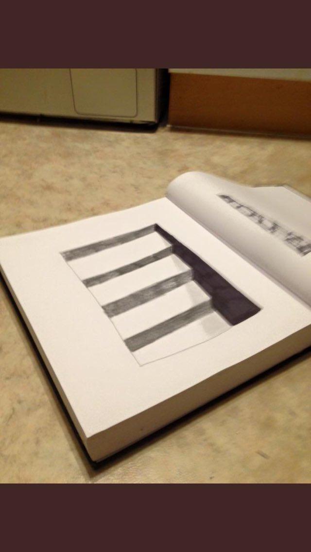 3D stairway #sketchbook #sketching
