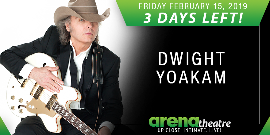 3 DAYS LEFT! 🔥🔥🔥 Dwight Yoakam and Scooter Brown Band LIVE in concert at #ArenaTheatre! Friday, February 15th, 2019! Get your tickets now!  👉https://bit.ly/2E2ZQDj -- #LiveShow #LiveMusic #Houston #ValentinesConcert ❤️