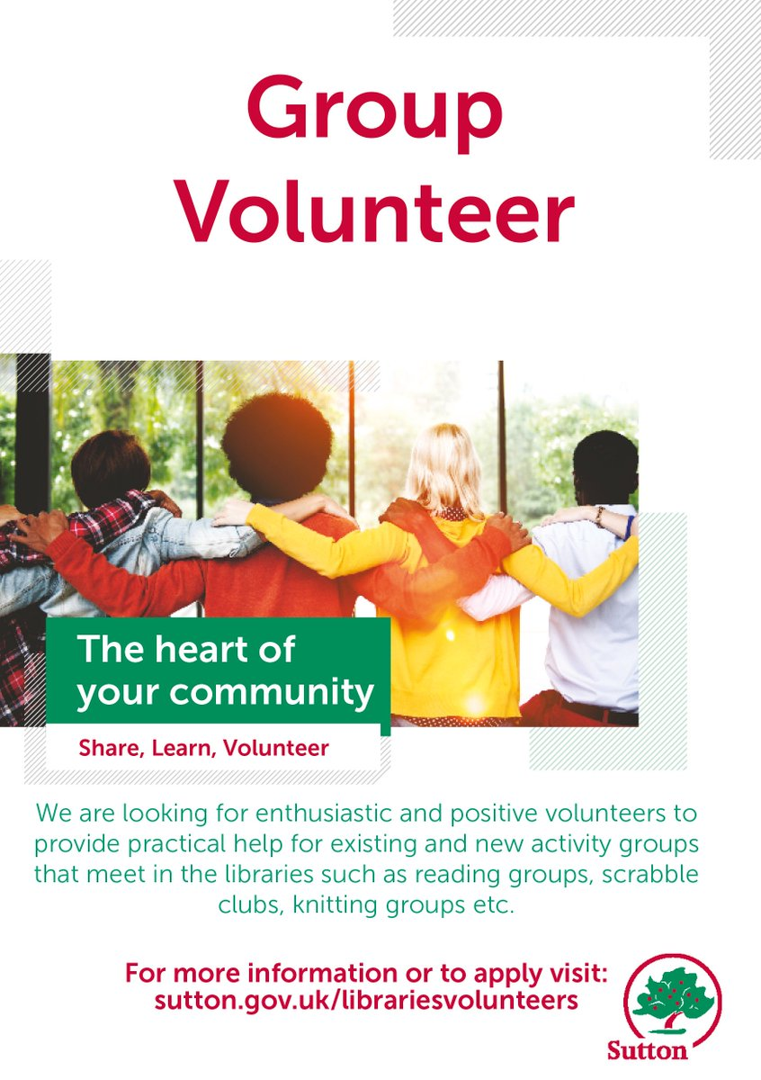 Could you give #SomeTimeforSutton? Volunteer at your local library and make a real impact on your #community.  http://socsi.in/LBwks  #volunteers #sutton #trysomethingnew
