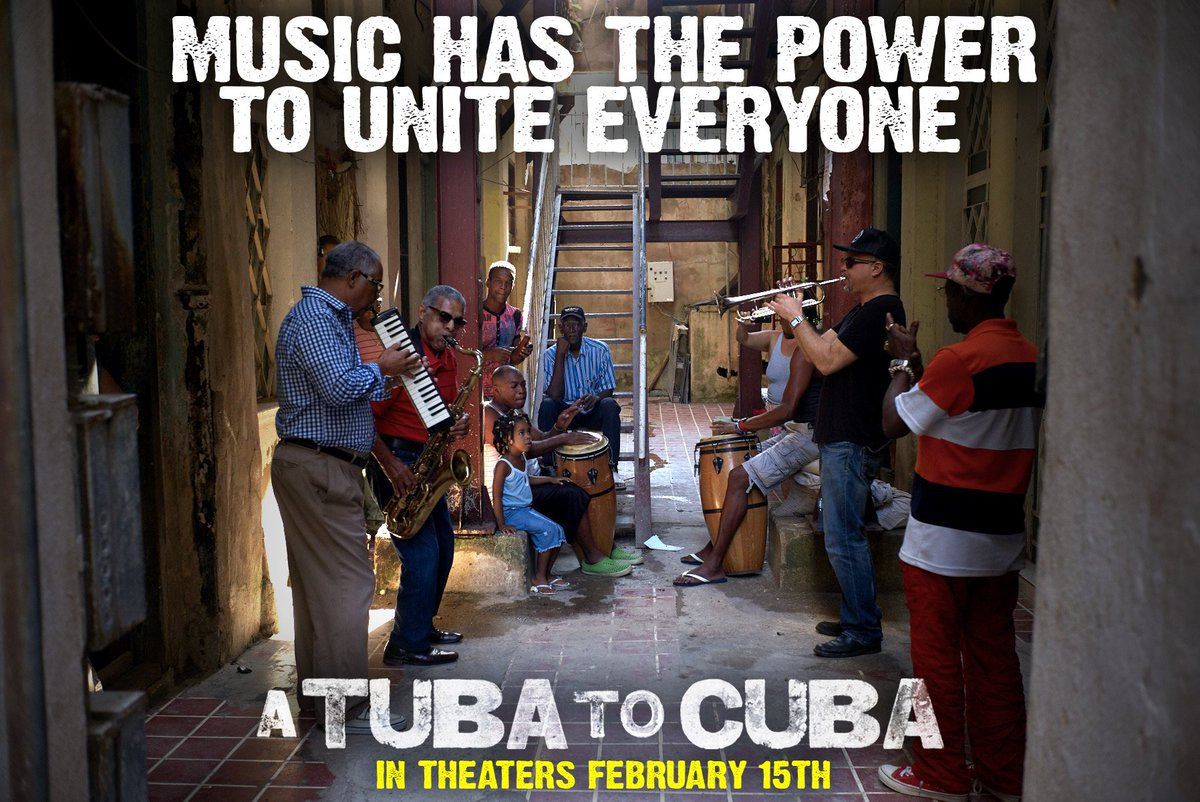 """""""I don't speak English so well. And they don't speak Spanish...But when we play, amazingly, we understand each other."""" See why music is an international language in #ATubaToCuba, in theaters and OnDemand this Friday! http://bit.ly/2WLYGDp  #WednesdayWisdom #indiefilm #jazzmusic"""