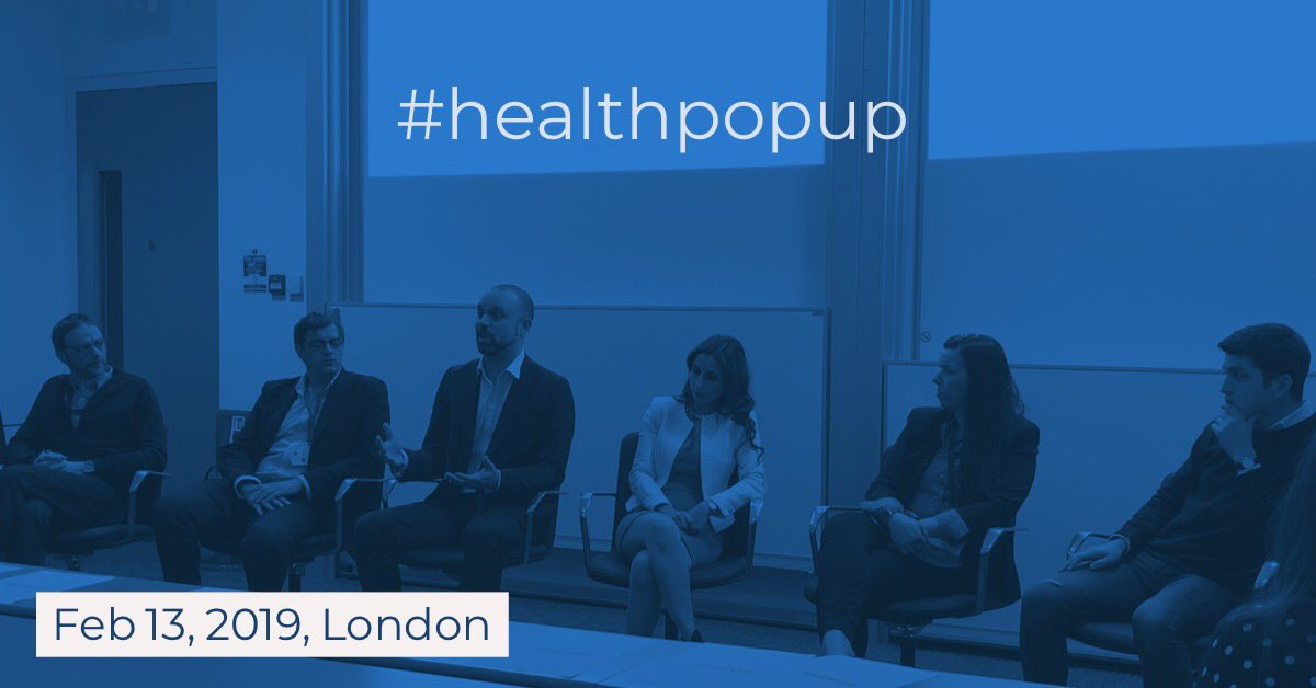 Thanks for a great #healthpopup today in #London!   #digitalhealth #startups #healthtech