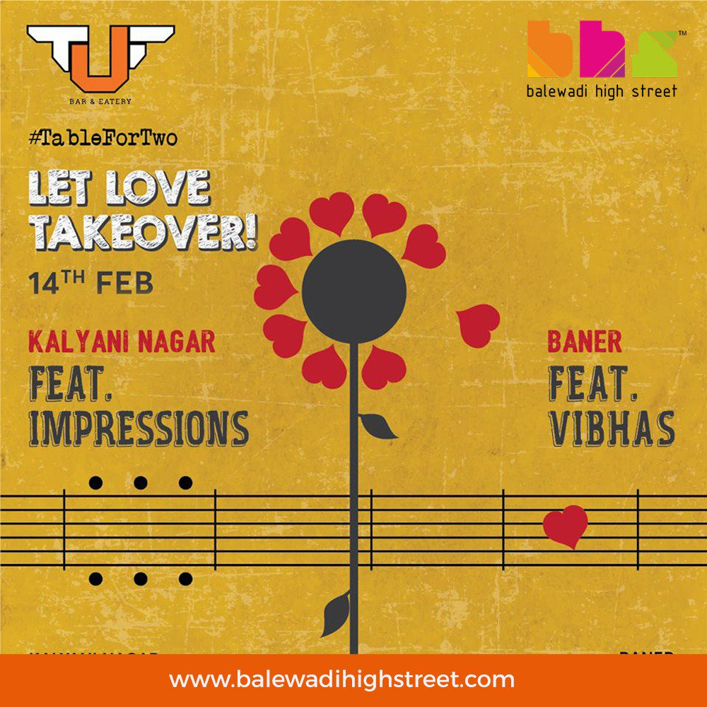 Let music and love take you on an adventure this #Valentine's Day, with our exciting gigs lined up @UnwindAtTuf, #Pune. #TheUrbanFoundry #TUF #ValentinesDay #TableForTwo #Memories #Love #CelebrateLove #LetLoveTakeover #UnwindAtTUF #Baner  #happyvalentinesday #bhs