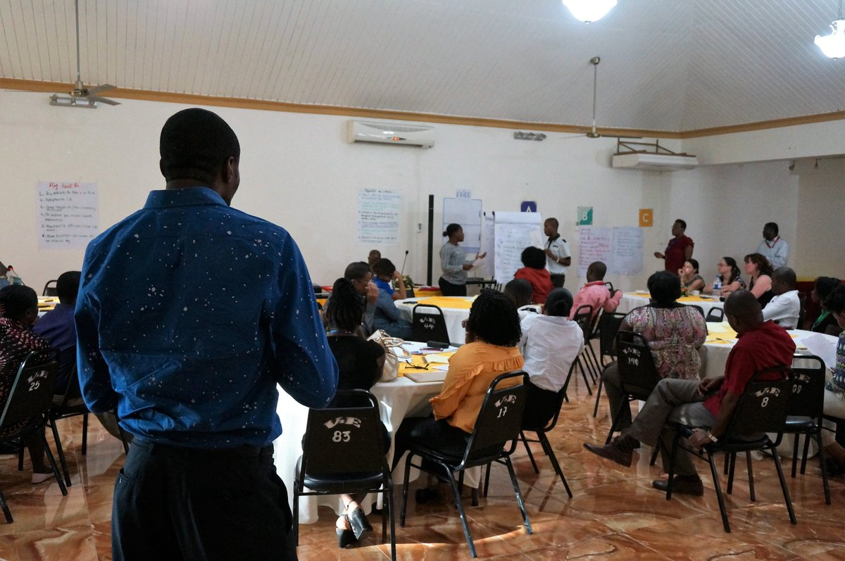 Take a look at our workshop in #Haiti about our A.B.C model, adding value to the PRISMA 2 project, reinforcing the work with the community to improve #WASH infrastructure in #HealthFacilities & trigger change using #SocialArtForBehaviourChange. More here: http://www.facebook.com/ONEDROP/