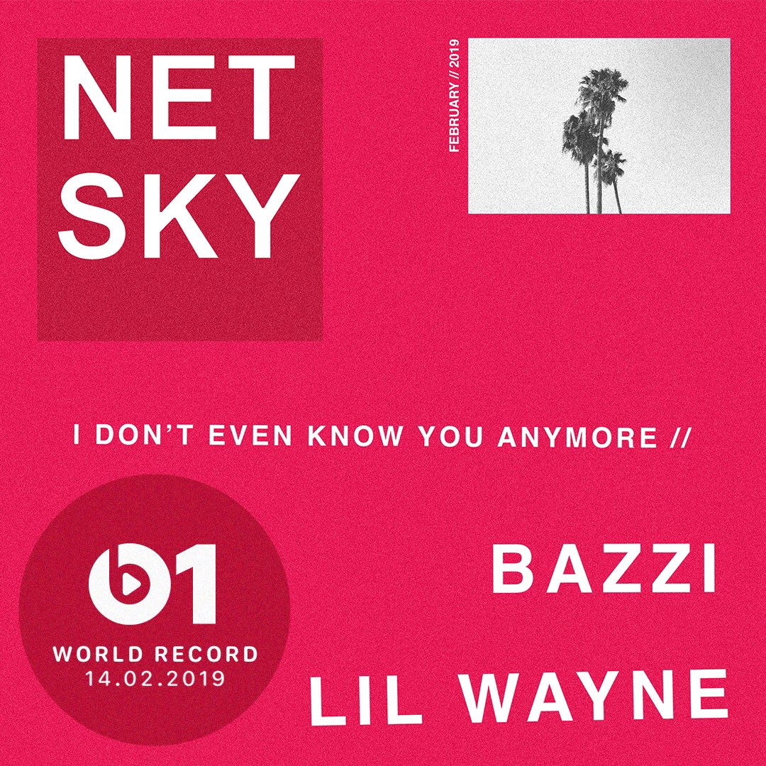 My new single 'I Don't Even Know You Anymore' feat @bazzi & @LilTunechi is @zanelowe's World Record on @Beats1 tomorrow. Tap in from 9am PST #IDEKYA https://t.co/e1iMMMHezI