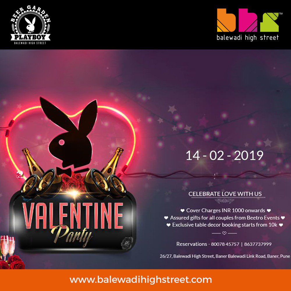 Let the celebrations begin! Fall in love with all things luxurious & discover a thoughtfully curated experience this #Valentines Day! Gorge on our flavoursome food, luscious drinks & heart sweeping music with assured gifts & unlimited fun! Cover charge : INR 1000/- per couple.