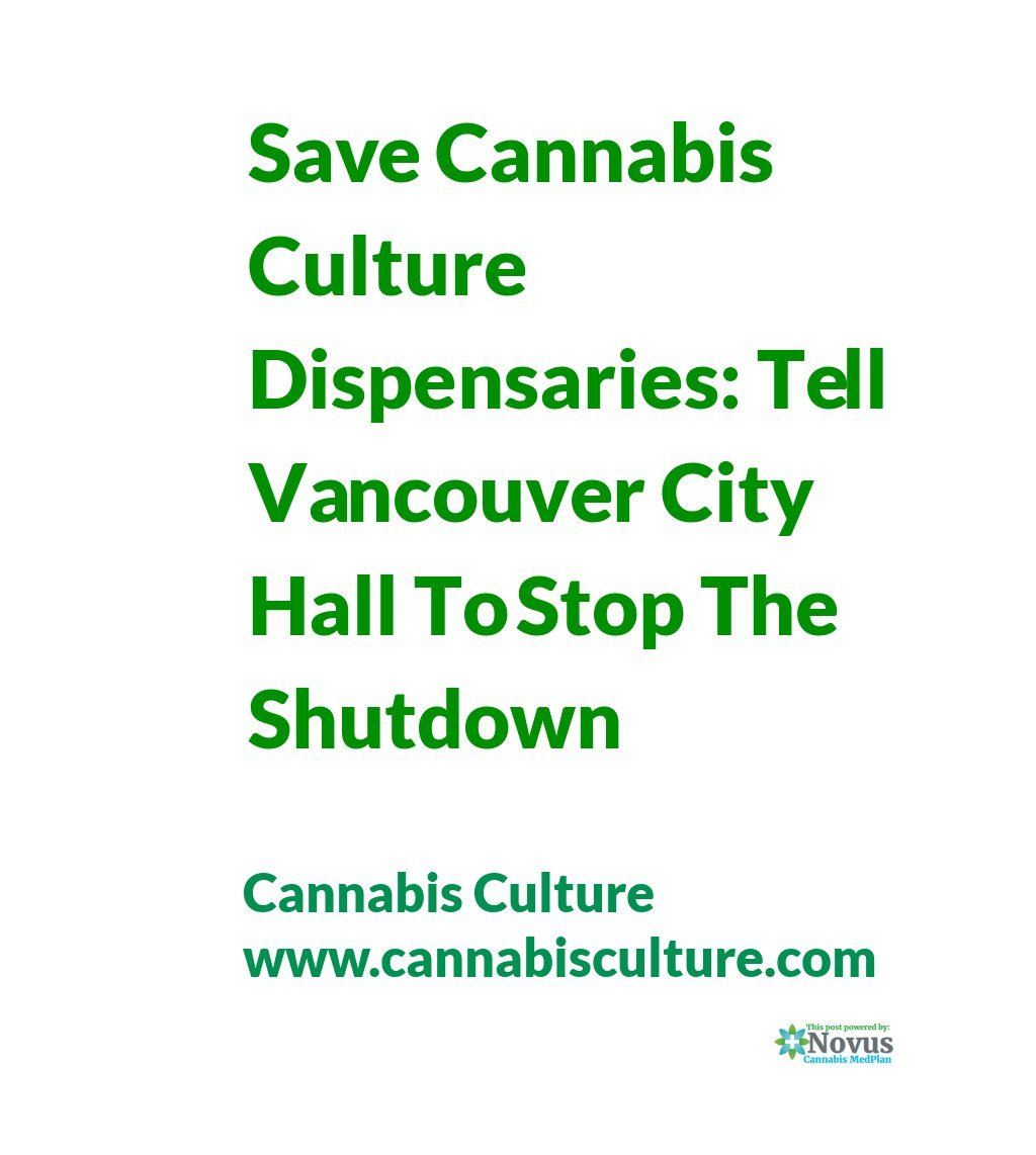 Save Cannabis Culture Dispensaries: Tell Vancouver City Hall To Stop The Shutdown | Cannabis Culture #StopTheShutdown http://rite.ly/KNU5  #cannabis
