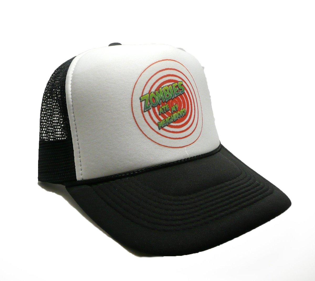 efc2902a ... Neighbors hat trucker hat adjustable snap back gamer hat black new  unworn https://etsy.me/2DzB4Jz #accessories #hat #black #white #gamerhat # truckerhat ...