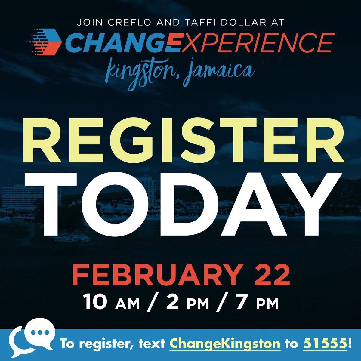 Jamaica, we are days away from Change Experience 2019, in Kingston. We are beyond excited to challenge your thinking, as it relates to the Word of God. Join us,February 22, at the Pegasus Hotel at 10am, 2pm and 7pm. Register here …https://changeexperience2019kingston.eventbrite.com   #ChangeExperience2019