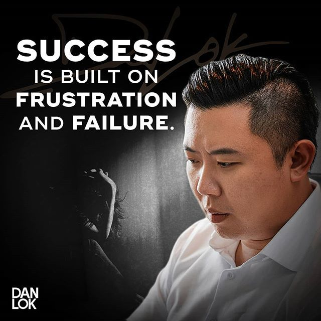 If you've failed once, or more than once, or if you haven't even started yet, it's NOT your fault. . It's just part of the process. . To find success it's important to be frustrated. And it's important to fail. . Because most people aren't willing to fai… https://www.instagram.com/p/Bt1L6ugH6qP/